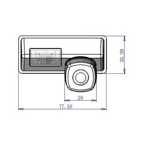Автомобільна камера заднього виду GT-S6816 для Nissan Teana Прев'ю 4