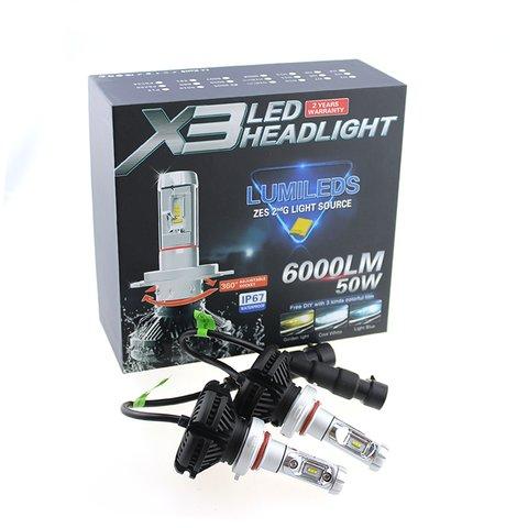 Набір світлодіодного головного світла UP-X3HL-H7W-6000LM (H7, 6000 лм, холодний білий) Прев'ю 2