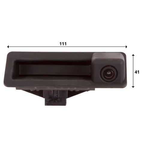 Камера заднего вида в ручку багажника для BMW 5 серии 2013-2015 г.в. Превью 1