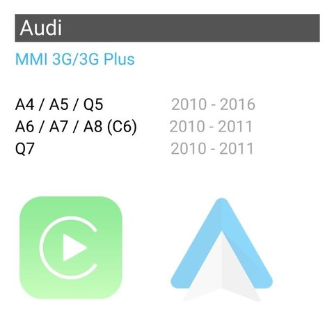 Wireless CarPlay and Android Auto Adapter for Audi with MMI 3G/3G Plus Preview 1