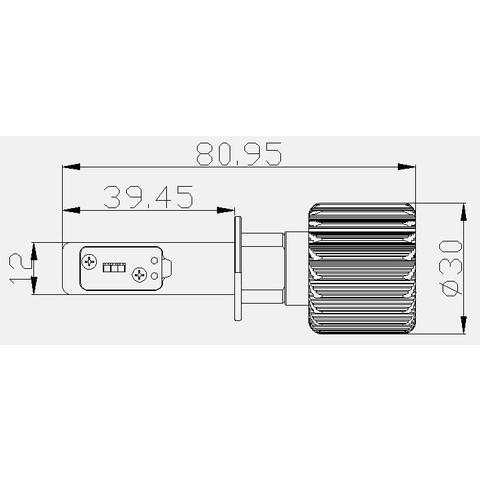 Набор светодиодного головного света UP-7HL-H1W-4000Lm (H1, 4000 лм, холодный белый) - Просмотр 5