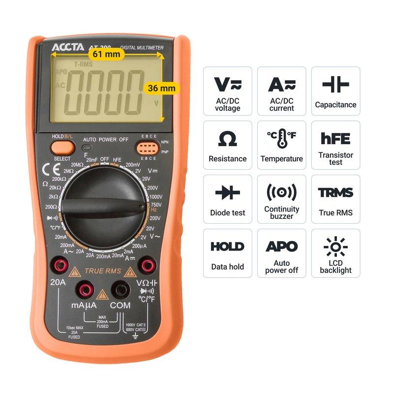 Цифровий мультиметр Accta AT-290 Зображення 8