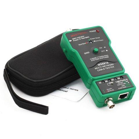 MASTECH MS6810 Тестер UTP, BNC и телефонного кабеля с тоновым генератором Превью 1