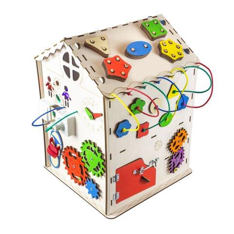 Бизиборд GoodPlay Большой развивающий домик с подсветкой (35×35×50) Превью 2